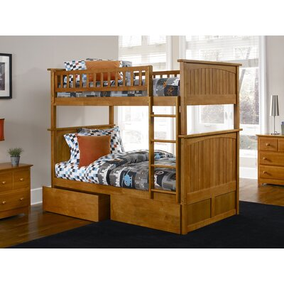 Maryellen Bunk Bed with Storage Size: Twin over Full, Color: Caramel Latte