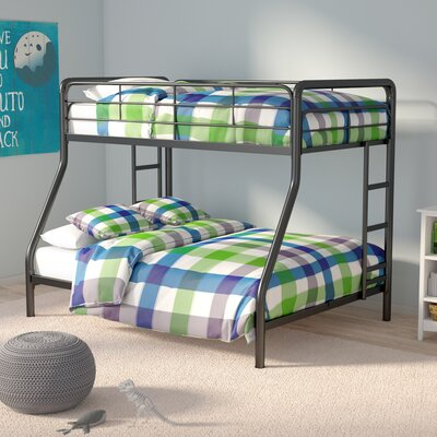 Maryanne Twin Over Full Bunk Bed Color: Black