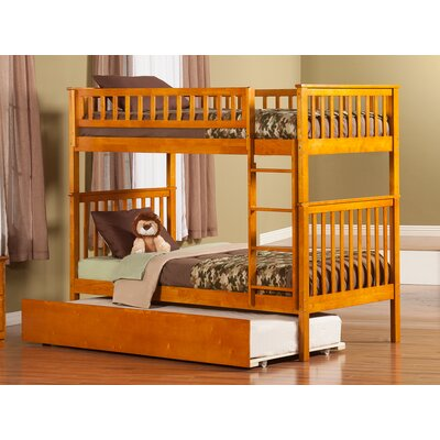 Shyann Twin over Twin Bunk Bed with Trundle Finish: Caramel Latte