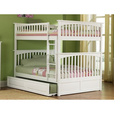 Henry Bunk Bed with Trundle Size: Twin over Full, Color: White