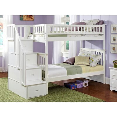 Henry Bunk Bed Size: Twin over Full, Color: White