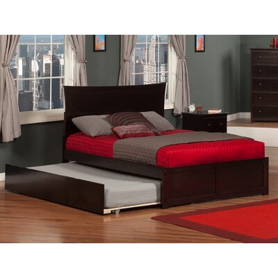 Greyson Platform Bed with Trundle Color: Espresso, Size: Twin