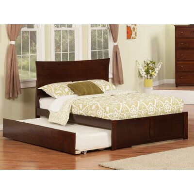 Greyson Platform Bed with Trundle Color: Antique Walnut, Size: Full