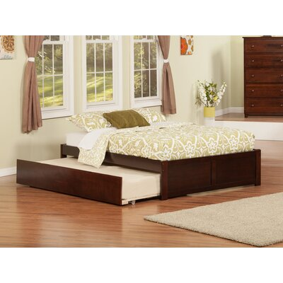 Greyson Platform Bed with Trundle Color: Antique Walnut, Size: Twin