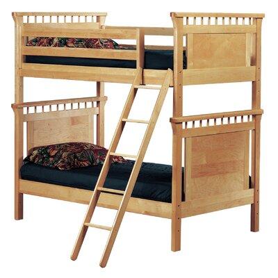 Bonneau Twin Futon Bunk Bed Finish: Cherry