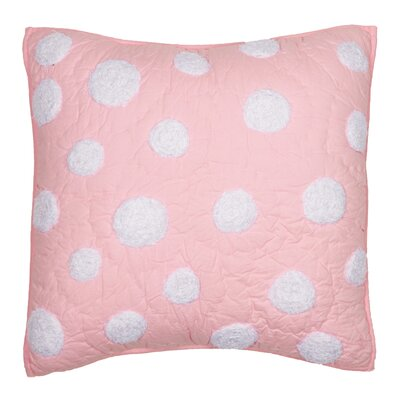 Iman Cotton Throw Pillow Color: Pink