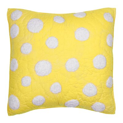 Iman Cotton Throw Pillow Color: Yellow
