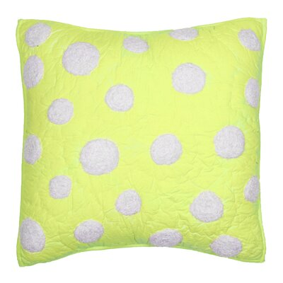 Iman Cotton Throw Pillow Color: Lime
