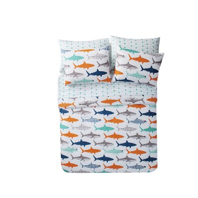 Brittany Shark Bed in a Bag Size: Full