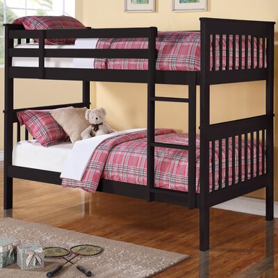 Reba Twin Bunk Bed Color: Black
