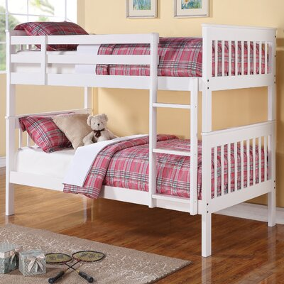Reba Twin Bunk Bed Finish: White