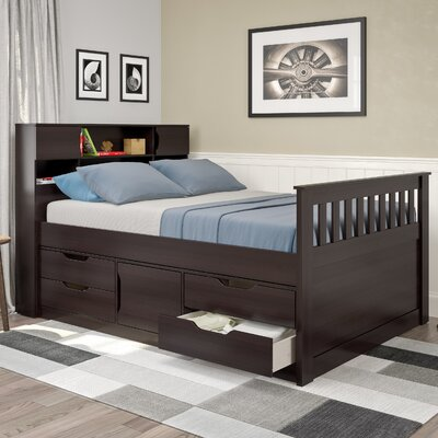 Michelle Full/Double Storage Platform Bed Color: Rich Espresso