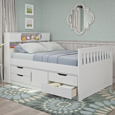 Michelle Full/Double Storage Platform Bed Color: Snow White