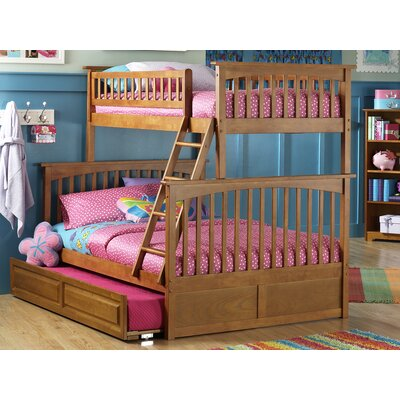 Henry Bunk Bed with Trundle Configuration: Twin over Full, Finish: Caramel Latte