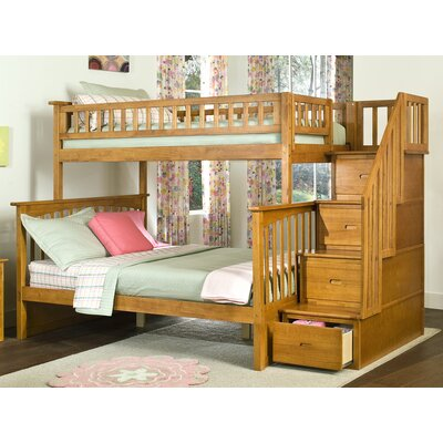 Henry Bunk Bed Configuration: Twin over Twin, Finish: Caramel Latte