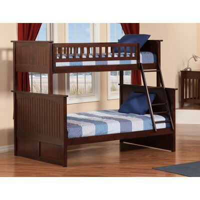 Maryellen Bunk Bed Configuration: Full over Full, Finish: Antique Walnut