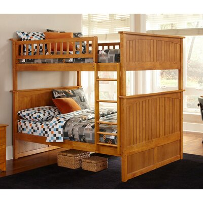 Maryellen Bunk Bed Size: Twin over Twin, Color: Caramel Latte