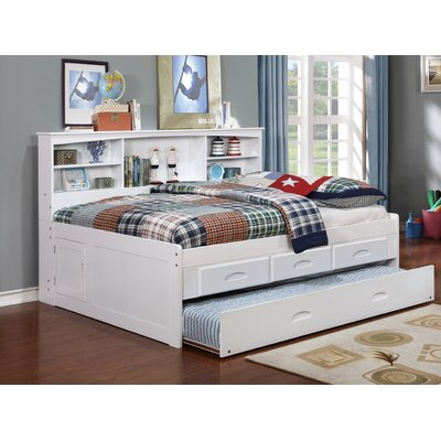 Kaitlyn Mates & Captains Bed with Trundle Size: Twin, Finish: White