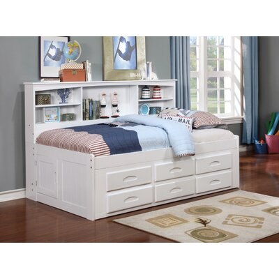 Kaitlyn Mates & Captains Bed with Trundle Size: Twin, Color: White