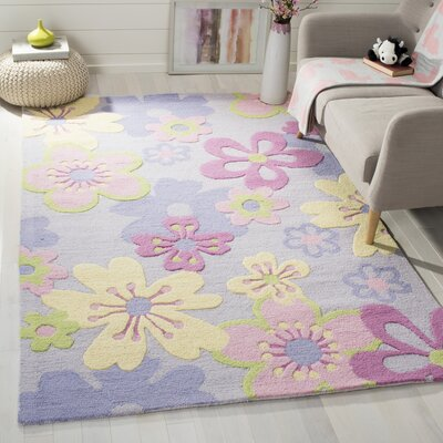 LeVar Hand-Tufted Pink/Purple Area Rug Rug Size: Rectangle 4 x 6