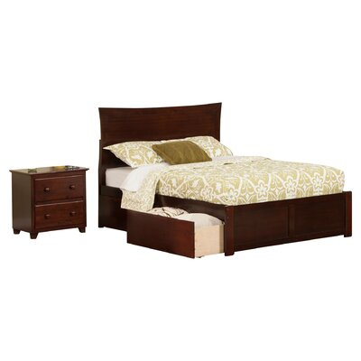Egon Panel 2 Piece Bedroom Set Finish: Espresso, Size: Full
