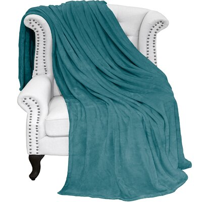 Karlie Ultra Soft Microplush Blanket Color: Emerald, Size: Twin/Twin XL
