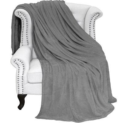 Karlie Ultra Soft Microplush Blanket Color: Grey, Size: Twin/Twin XL