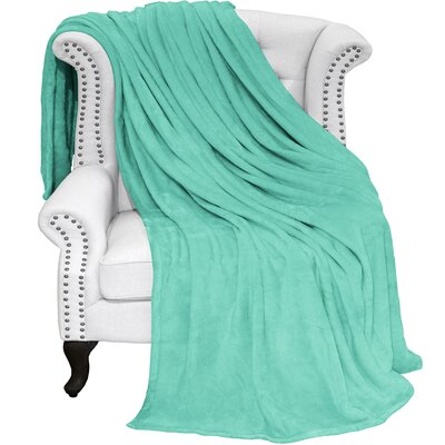 Karlie Ultra Soft Microplush Blanket Color: Turquoise, Size: Twin/Twin XL