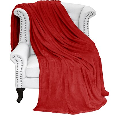 Karlie Ultra Soft Microplush Blanket Color: Red, Size: Full/Queen