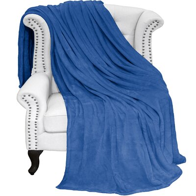 Karlie Ultra Soft Microplush Blanket Size: Twin/Twin XL, Color: Medium Blue