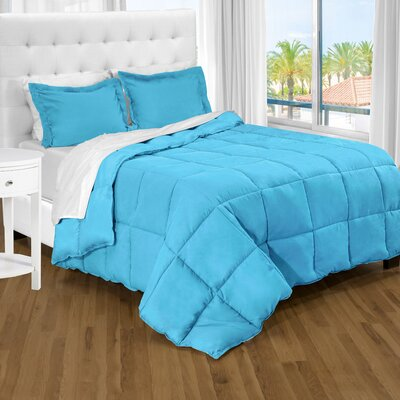 Karlie Ultra Soft Down Alternative 2 Piece Twin XL Comforter Set Color: Aqua