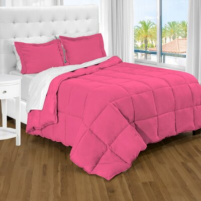Karlie Ultra Soft Down Alternative 2 Piece Twin XL Comforter Set Color: Pink
