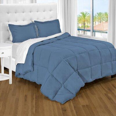 Karlie Ultra Soft Down Alternative 2 Piece Twin XL Comforter Set Color: Coronet Blue