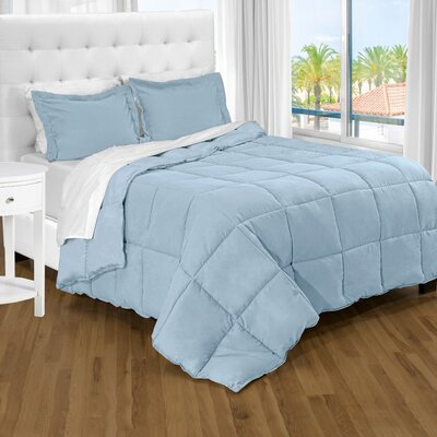 Karlie Ultra Soft Down Alternative 2 Piece Twin XL Comforter Set Color: Light Blue