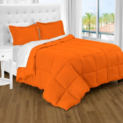 Karlie Ultra Soft Down Alternative 2 Piece Twin XL Comforter Set Color: Orange