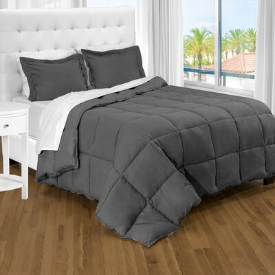 Karlie Ultra Soft Down Alternative 2 Piece Twin XL Comforter Set Color: Grey