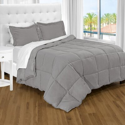 Karlie Ultra Soft Down Alternative 2 Piece Twin XL Comforter Set Color: Light Grey