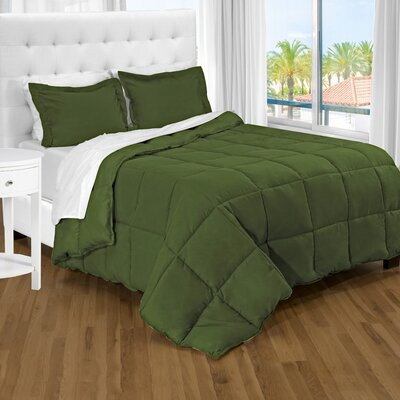 Karlie Ultra Soft Down Alternative 2 Piece Twin XL Comforter Set Color: Cypress