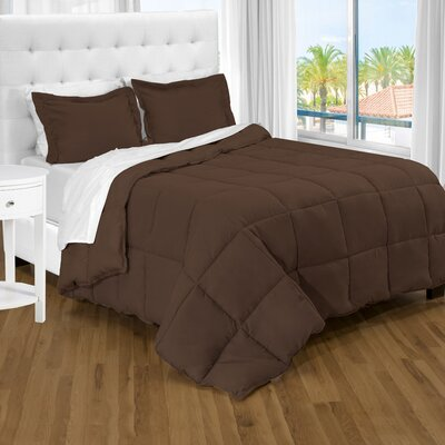 Karlie Ultra Soft Down Alternative 2 Piece Twin XL Comforter Set Color: Chocolate