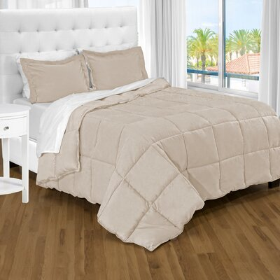 Karlie Ultra Soft Down Alternative 2 Piece Twin XL Comforter Set Color: Sand