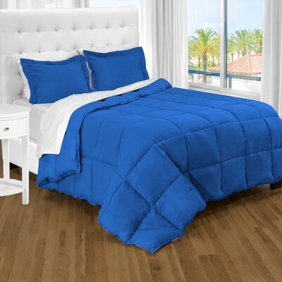 Karlie Ultra Soft Down Alternative 2 Piece Twin XL Comforter Set Color: Medium Blue