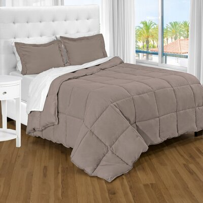 Karlie Ultra Soft Down Alternative 2 Piece Twin XL Comforter Set Color: Taupe