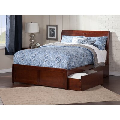 Deandre Traditional Storage Platform Bed Color: White, Size: Twin