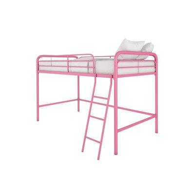 Myron Junior Twin Low Loft Bed Color: Pink