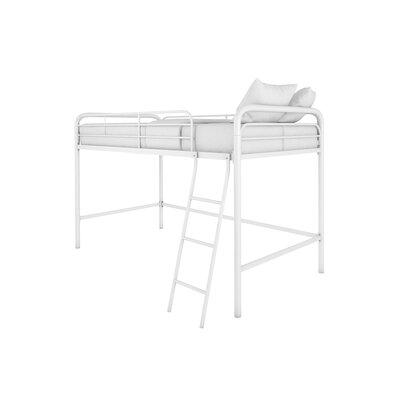 Myron Junior Twin Low Loft Bed Color: White