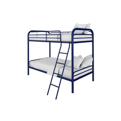 Maryanne Twin Over Twin Bunk Bed Color: Navy
