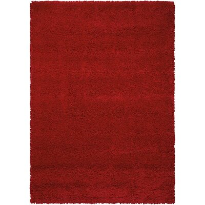 Shelley Red Area Rug Rug Size: Rectangle 53 x 75