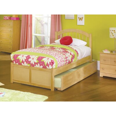 Matt Panel Bed with Trundle Size: Full, Color: Natural