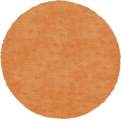 Evelyn Orange Area Rug Rug Size: Round 6