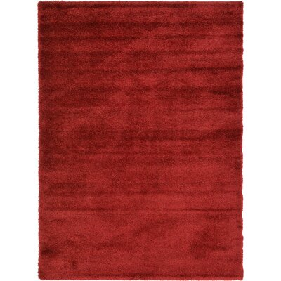 Evelyn Red Area Rug Rug Size: Rectangle 8 x 114